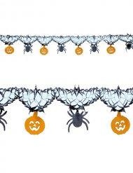 Ghirlanda con ragni e zucche Halloween