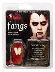 Denti da vampiro bianchi per adulto
