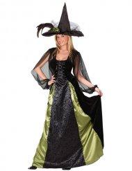 Costume da strega nero e verde per donna