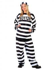 Costume da prigioniera per donna bianco e nero