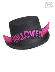 Cappello Halloween con corna fucsia