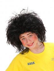 Parrucca spettinata nera per bambino