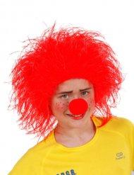 Parrucca rossa pagliaccio per bambino