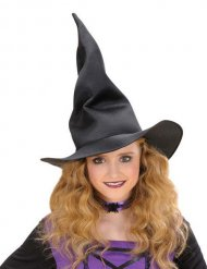 Cappello nero da strega flessibile per bambino