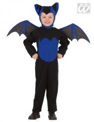 Costume da pipistrello nero e blu per bambino halloween