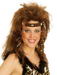 Parrucca donna delle caverne con fascia