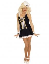 Costume da sexy marinaia per donna bianco e nero