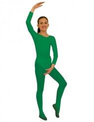 Body a maniche lunghe verde per bambina