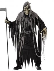 Costume da morte in nero per adulto halloween