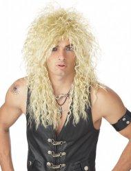 Parrucca bionda rockstar anni 80 adulto