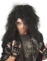 Parrucca cantante metal nera lunga
