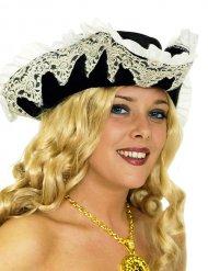 Cappello da corsaro con pizzo per donna
