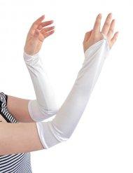 Manicotti lunghi bianchi per donna