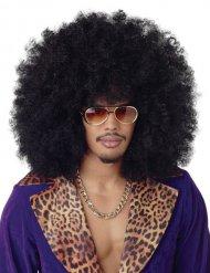 Parrucca afro/disco maxi volume nera