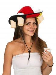 Cappello della germania porta bicchieri di birra