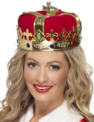 Corona da regina con finti gioielli per adulto
