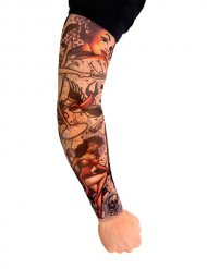 Finto tatuaggio multicolore per maniche corte