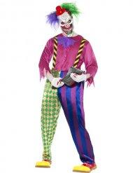 Costume clown psicopatico multicolore per uomo Halloween