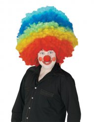 Parrucca da clown gigante multicolore