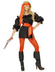 Costume da pirata nero per donna