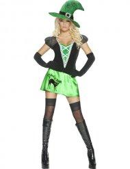 Costume da strega verde sexy per donna