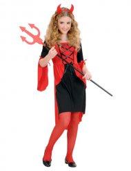 Costume da diavolessa degli inferi da bambina halloween