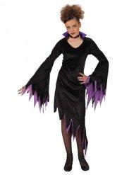 Costume da vampiro in viola per bambina