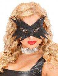 Maschera con brillantini nera per donna