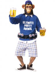 Costume da Scimmia Ultimate Party Animal e cintura da birra