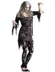 Costume Zombie grigio per donna halloween
