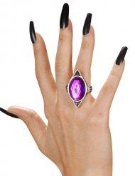 Anello gotico con pietra viola