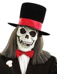 Mashcera da scheletro con cappello halloween