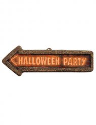 Cartello di segnalazione Halloween party