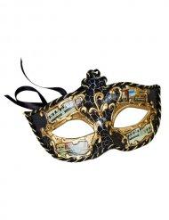 Maschera veneziana nero e oro per adulti