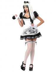 Costume alice sexy bianca nera donna