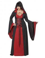 Costume dama malefica rosso e nero taglia grande donna