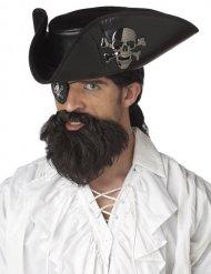 Barba scura da pirata per adulto