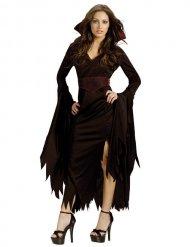 Costume gotico da vampira per halloween donna
