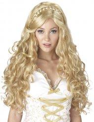 Parrucca divinità bionda ricca per donna