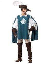 Costume da moschettiere blu per uomo