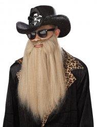 Barba lunga e bionda rocker
