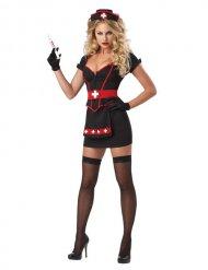 Costume infermiera nera sexy donna