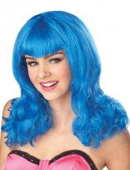 Parrucca per donna capelli blu