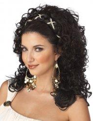 Parrucca da dea greca capelli neri