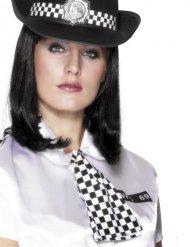 Cravatta da poliziotto nera e bianca per donna