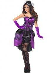 Costume Burlesque nero e viola per donna