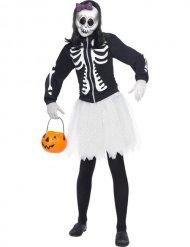 Costume da scheletro con tutù per donna