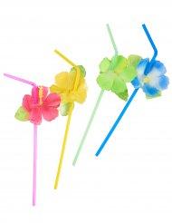6 Cannucce con fiori haway