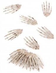 Kit di 12 mani da scheletro halloween