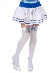 Calze bianche con fiocco per donna